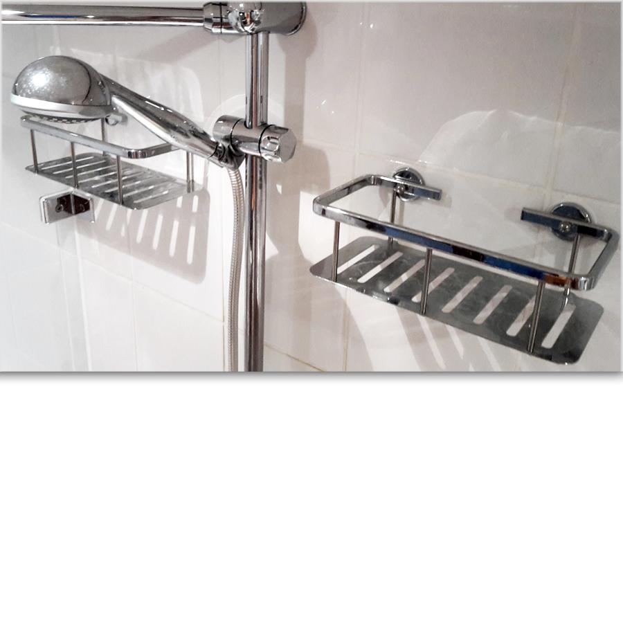 nie wieder bohren aluxx duschkorb style einst ckig al131mcr. Black Bedroom Furniture Sets. Home Design Ideas
