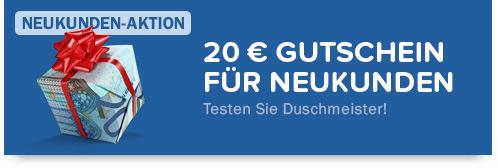 20 Euro Gutschein f�r Neukunden