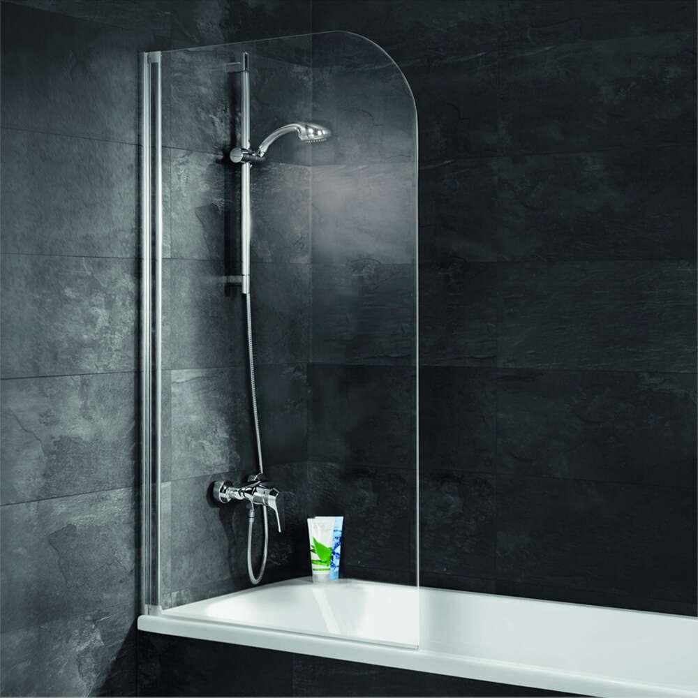 einfach ohne bohren duschwand 1 teilig badewannenfaltwa ebay. Black Bedroom Furniture Sets. Home Design Ideas