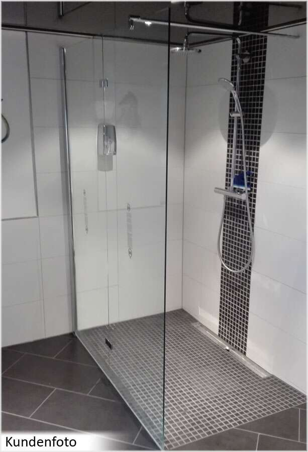 schulte m8 duschwand walk in freistehend 8 mm. Black Bedroom Furniture Sets. Home Design Ideas