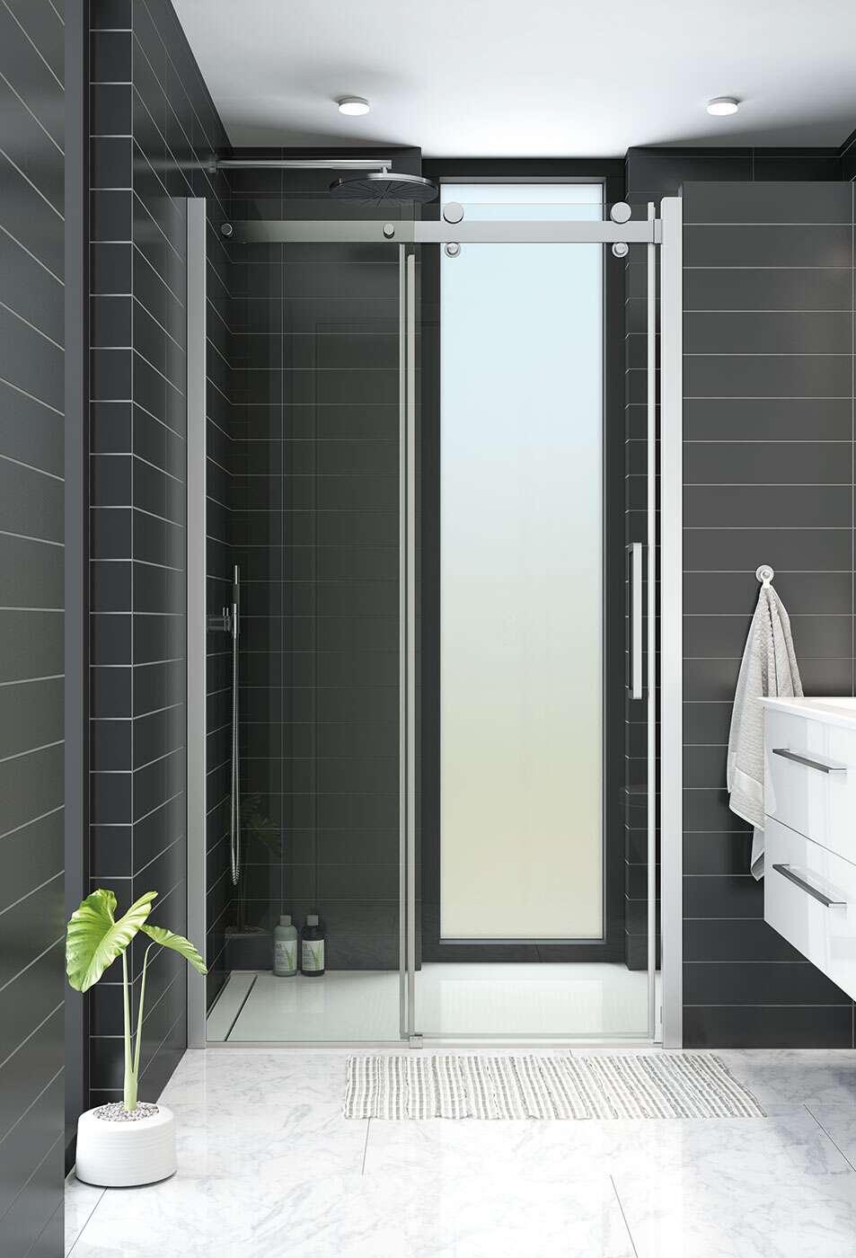 dansani xxl deluxe duscht r schiebet r in nische. Black Bedroom Furniture Sets. Home Design Ideas