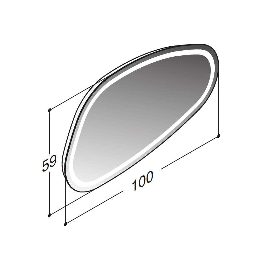 scanbad scanbad spiegel solo 360 grad drehbar 60 x 100 cm bild 2. Black Bedroom Furniture Sets. Home Design Ideas