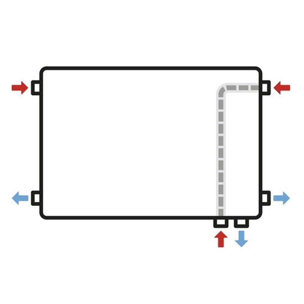 heizkörper universal e-10 einlagig mit 6 anschlüssen bis 500 mm höhe