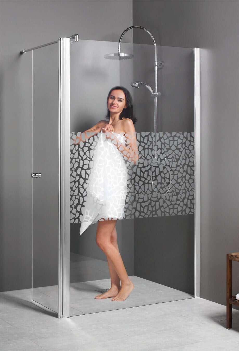 breuer duschwand entra walk in freistehend mit beweglichem. Black Bedroom Furniture Sets. Home Design Ideas