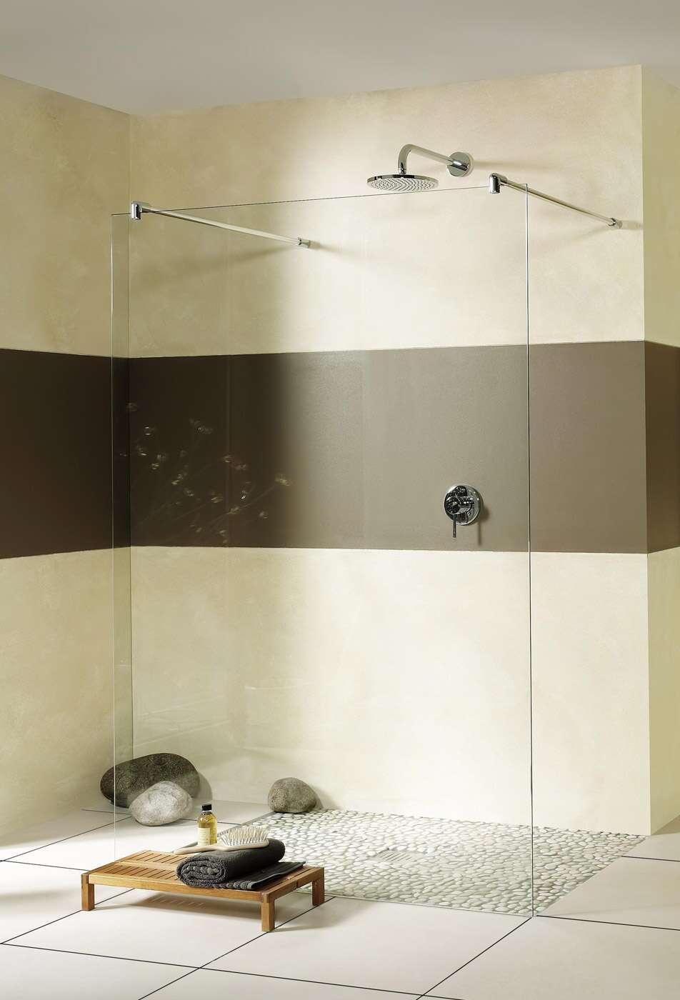 breuer duschwand entra walk in freistehend. Black Bedroom Furniture Sets. Home Design Ideas