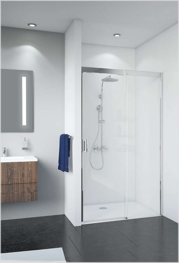 breuer panorama schiebet r 8mm f r nische softclose. Black Bedroom Furniture Sets. Home Design Ideas