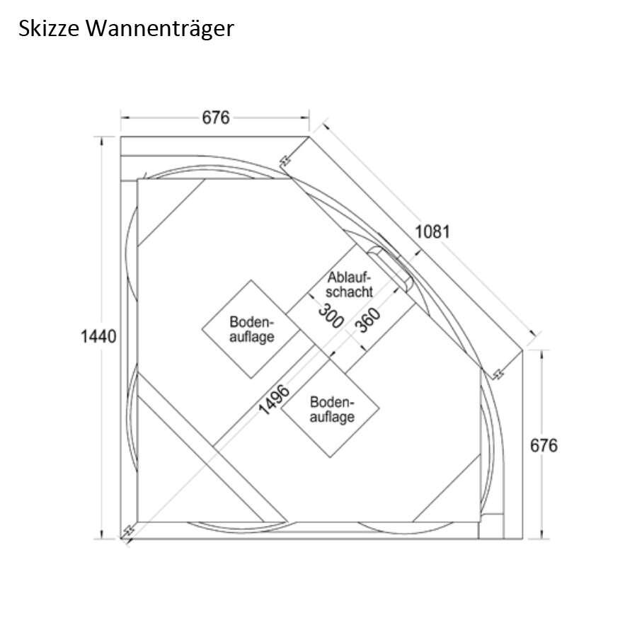 Eckbadewanne maße 140  Ottofond Eckbadewanne Siam 140 x 140 weiß 860001BW | Duschmeister.de