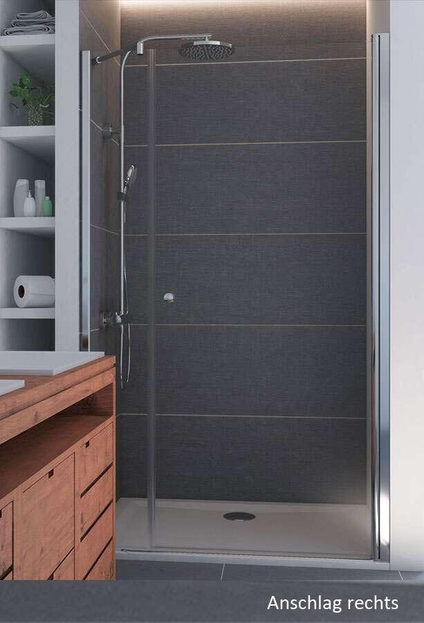 breuer dusche elana dreht r mit nebenteil in nische. Black Bedroom Furniture Sets. Home Design Ideas