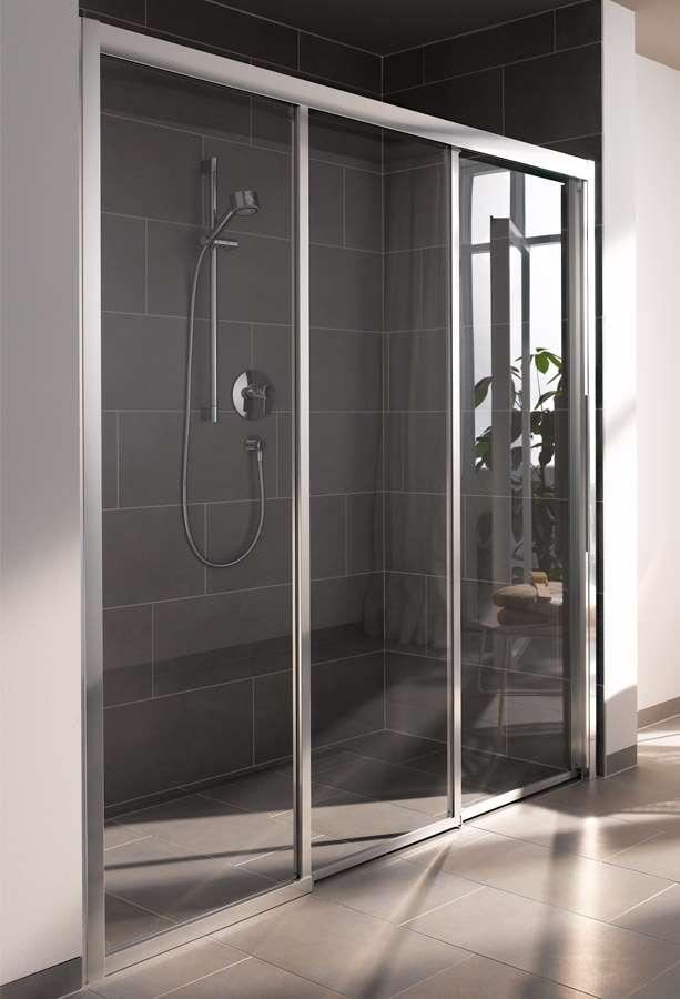 koralle duschkabine myday comfort schiebet r 3 teilig f r nische sbf3f. Black Bedroom Furniture Sets. Home Design Ideas