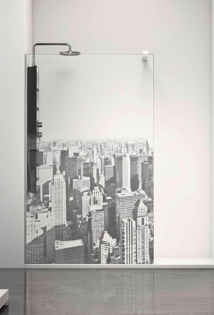 duschwand alleinstehend walk in 8 mm profiltek belus manhattan. Black Bedroom Furniture Sets. Home Design Ideas