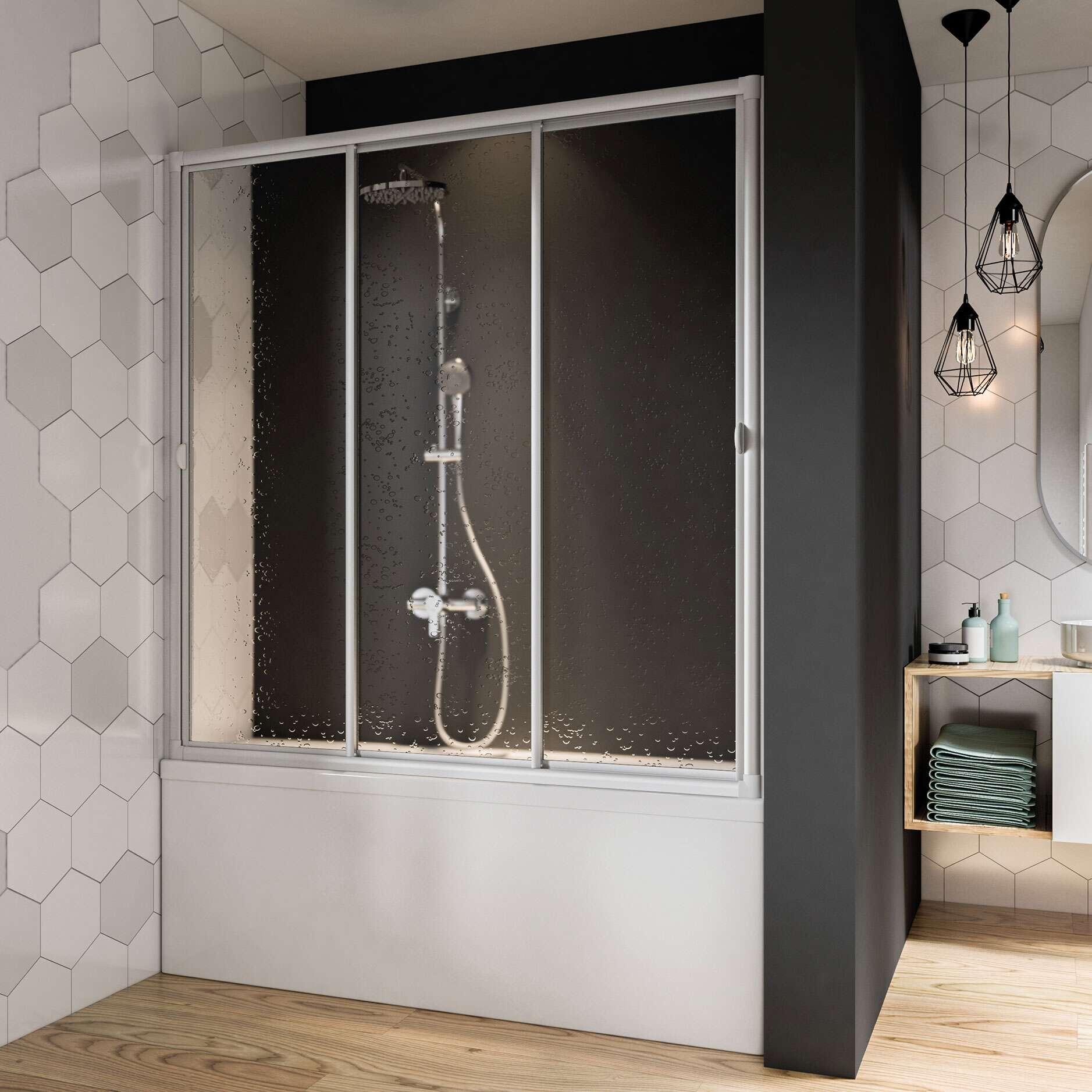 breuer fara badewannenaufsatz schiebet r 3 teilig. Black Bedroom Furniture Sets. Home Design Ideas