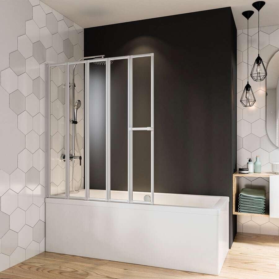 breuer fara badewannenfaltwand 5 teilig. Black Bedroom Furniture Sets. Home Design Ideas