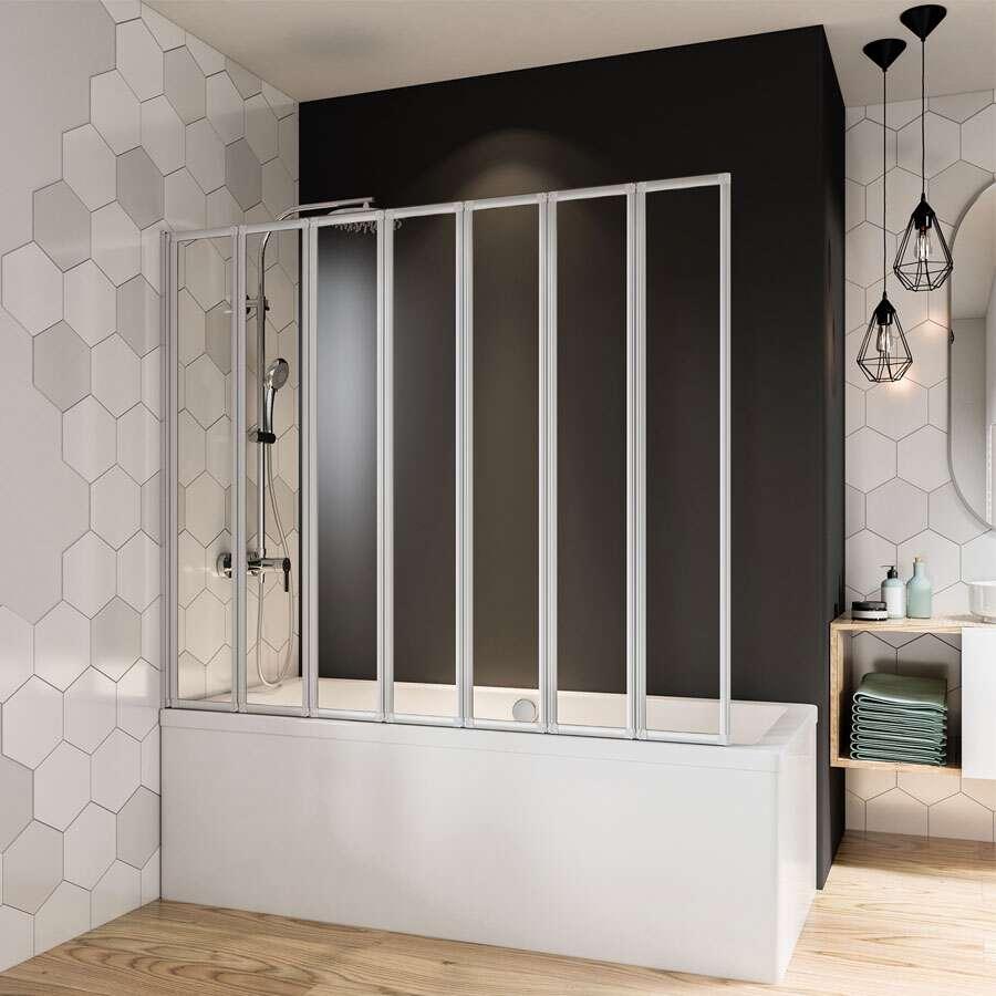 breuer fara badewannenfaltwand 7 teilig. Black Bedroom Furniture Sets. Home Design Ideas