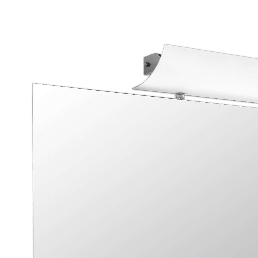 scanbad spiegel mit polierten kanten und leuchte 90 cm. Black Bedroom Furniture Sets. Home Design Ideas
