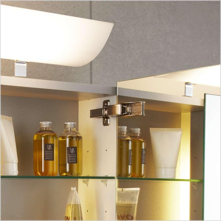 Scanbad spiegelschrank rumba m leuchte u sensorschalter 120 cm spiegelschrank - Scanbad spiegelschrank ...