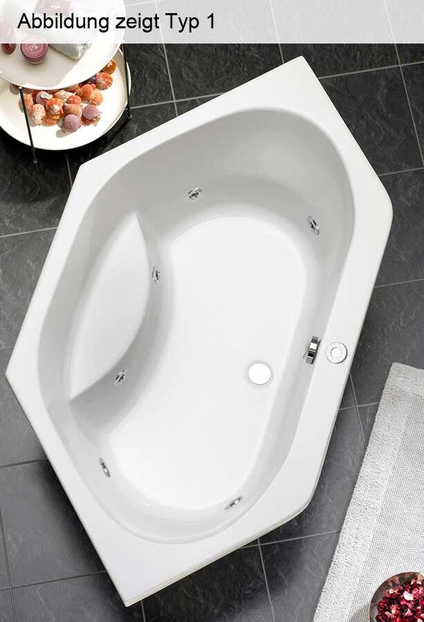 ottofond whirlpool eckbadewanne riga 130 x 130 703001wp. Black Bedroom Furniture Sets. Home Design Ideas