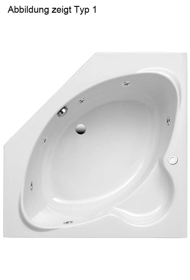 ottofond whirlpool eckbadewanne miami 125 x 125 9100xxwp. Black Bedroom Furniture Sets. Home Design Ideas