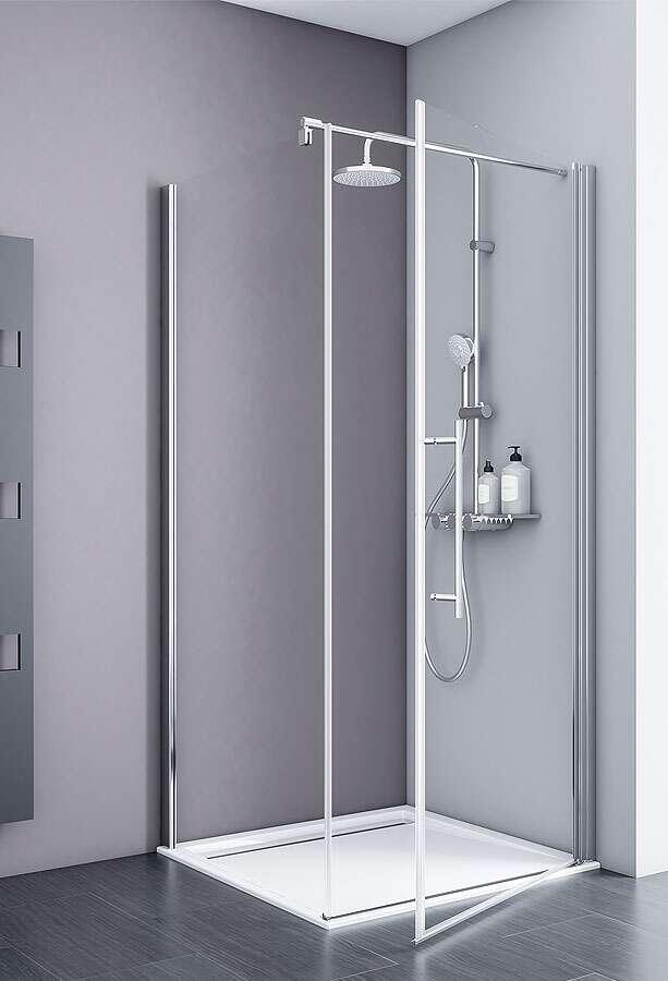 schulte duschkabine alexa style 2 0 dreht r mit seitenwand. Black Bedroom Furniture Sets. Home Design Ideas