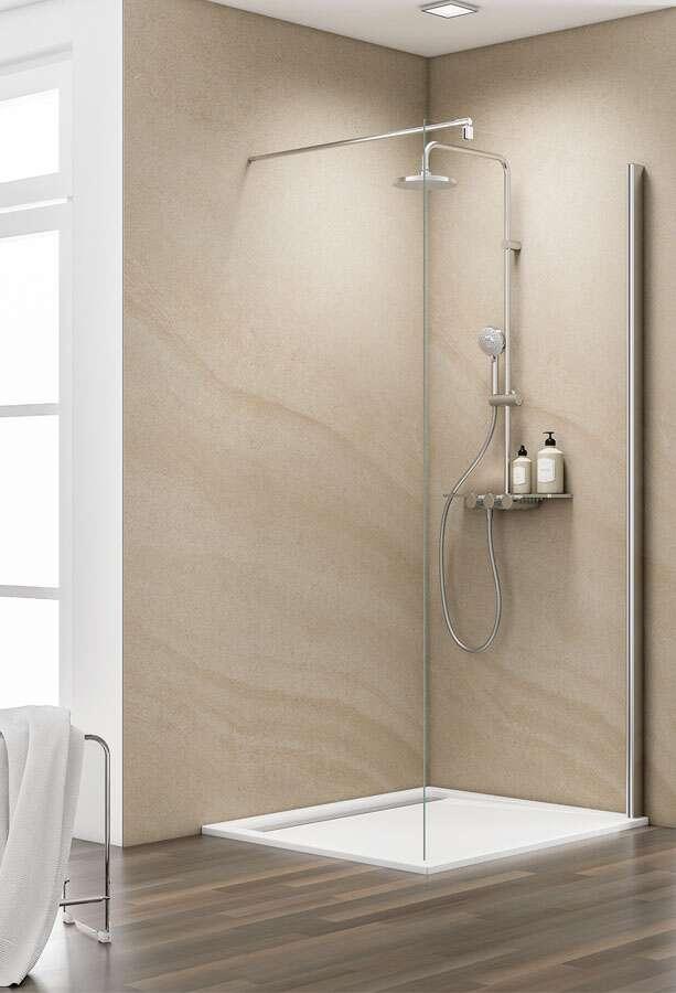 schulte masterclass duschwand walk in freistehend. Black Bedroom Furniture Sets. Home Design Ideas