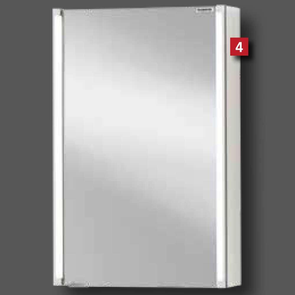 Fackelmann Fackelmann Badmöbel Spiegelschrank LED 42 Cm