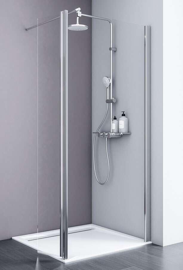 schulte duschwand alexa style 2 0 free mit beweglichem element. Black Bedroom Furniture Sets. Home Design Ideas