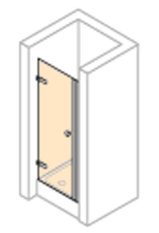 h ppe enjoy rahmenlos schwingt r in nische links xr0780. Black Bedroom Furniture Sets. Home Design Ideas