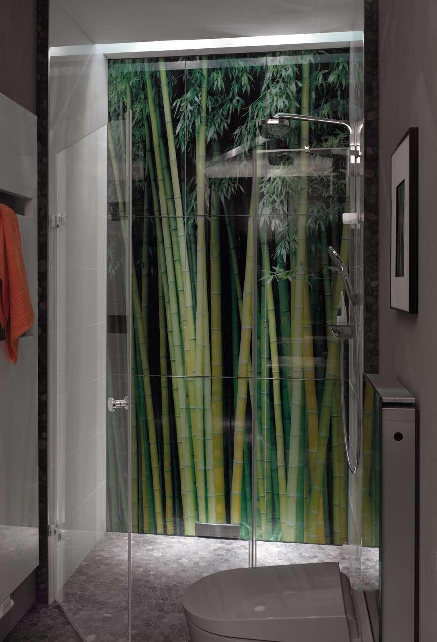 h ppe enjoy rahmenlos schwingt r links mit nebenteil in nische. Black Bedroom Furniture Sets. Home Design Ideas