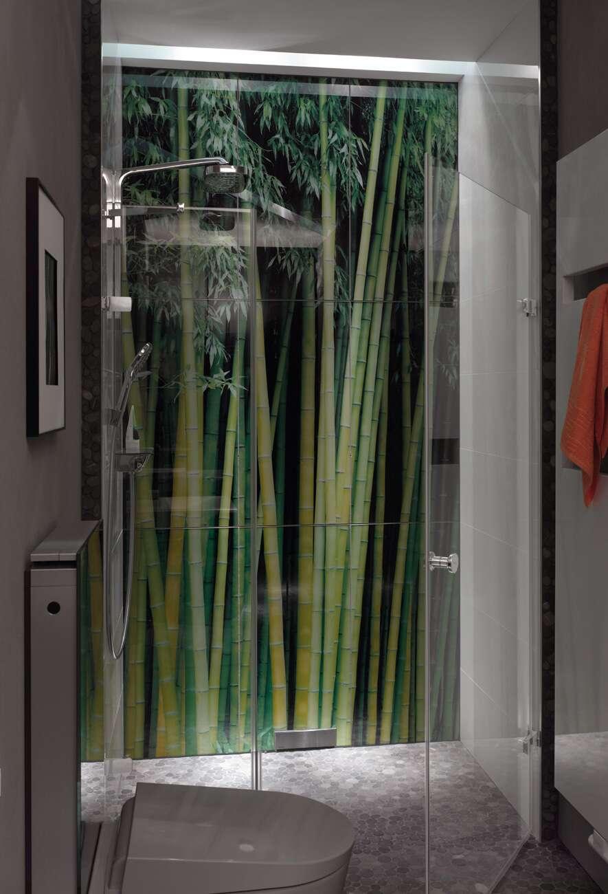 h ppe enjoy rahmenlos schwingt r rechts mit nebenteil in nische. Black Bedroom Furniture Sets. Home Design Ideas