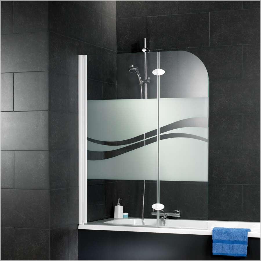 schulte sunny badewannenaufsatz 2 teilig dekor liane d3353. Black Bedroom Furniture Sets. Home Design Ideas