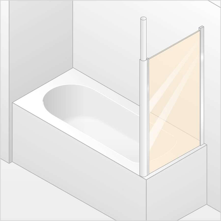 h ppe 501 design elegance seitenwand f r badewannenaufsatz. Black Bedroom Furniture Sets. Home Design Ideas
