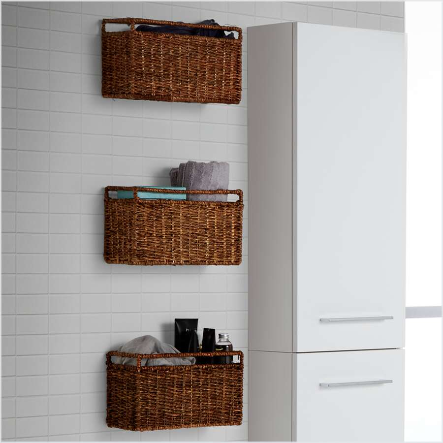 scanbad flechtkorb w schekorb klein 30 cm flechtkorb mit haken. Black Bedroom Furniture Sets. Home Design Ideas
