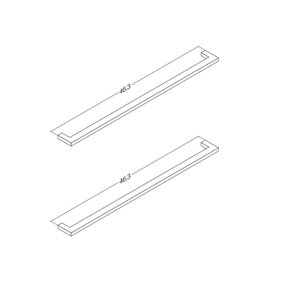 Scanbad Griff filigran für Delta Schränke 2 Stück 45 cm Paar Griffe ...
