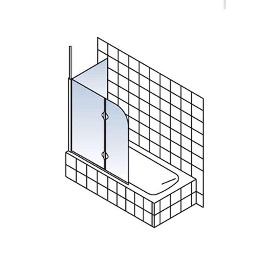 schulte sunny spezial badewannenaufsatz mit seitenwand 2 teilig. Black Bedroom Furniture Sets. Home Design Ideas