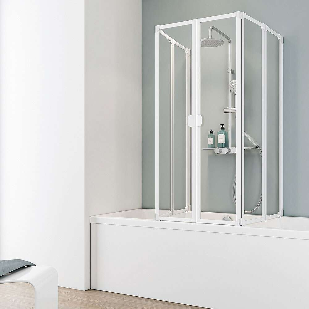 Duschkabine badewanne  Badewannenfaltwände bei Duschmeister.de online kaufen