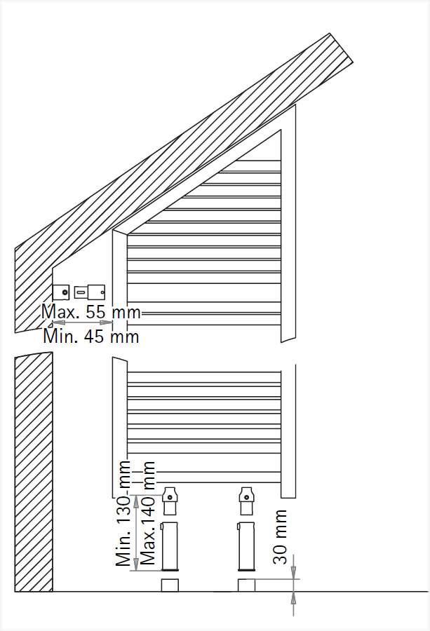 raumteiler montage set f r m nchen kiel mit schr ge wei 721000. Black Bedroom Furniture Sets. Home Design Ideas