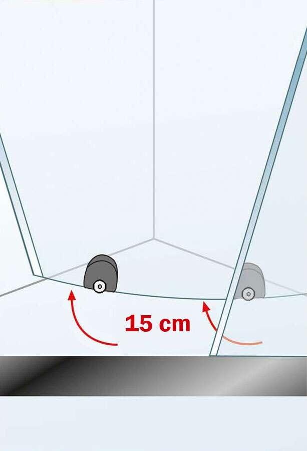 schulte kristall trend runddusche ii 4 teilig. Black Bedroom Furniture Sets. Home Design Ideas