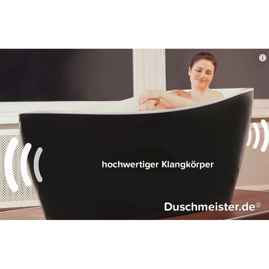 Freistehende Badewanne Whirlpool System : Freistehende Badewanne mit Whirlpool inkl. Sound und Lichtsystem ...