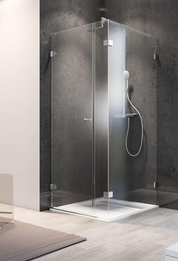 schulte davita duschwand walk in mit nebenteil und dreht r. Black Bedroom Furniture Sets. Home Design Ideas