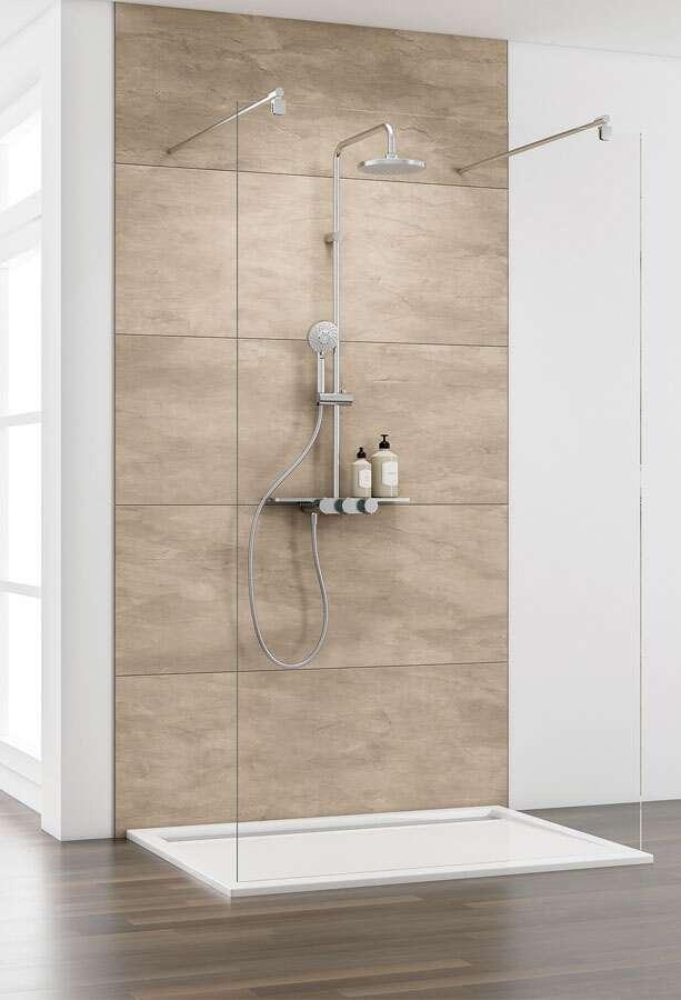 schulte masterclass duschwand walk in freistehend 8 mm. Black Bedroom Furniture Sets. Home Design Ideas