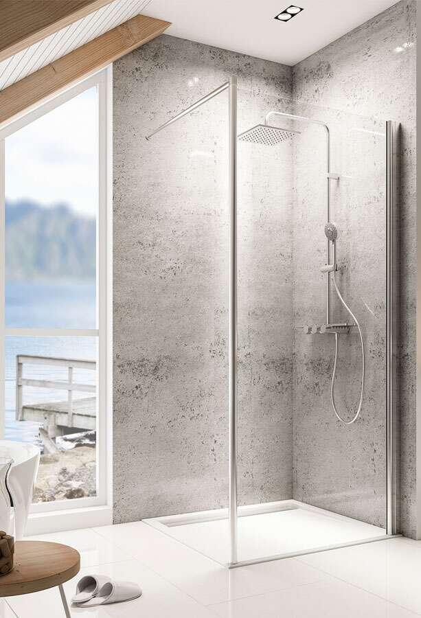 schulte garant duschwand walk in mit stabilisationsb gel. Black Bedroom Furniture Sets. Home Design Ideas