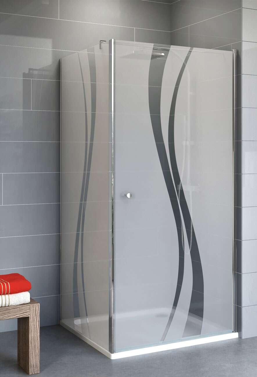 schulte dusche alexa style 2 0 dreht r mit seitenwand dekor liane. Black Bedroom Furniture Sets. Home Design Ideas