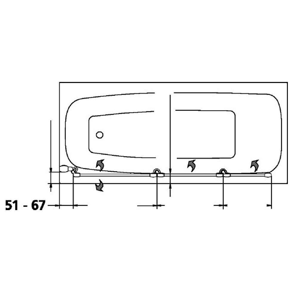 kermi badewannenfaltwand vario 2000 3 teilig express. Black Bedroom Furniture Sets. Home Design Ideas