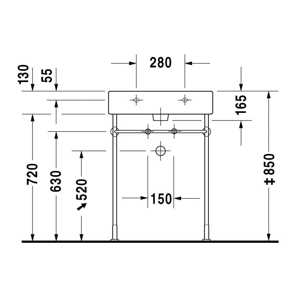 duravit waschtisch vero wei 60 cm 1678914. Black Bedroom Furniture Sets. Home Design Ideas