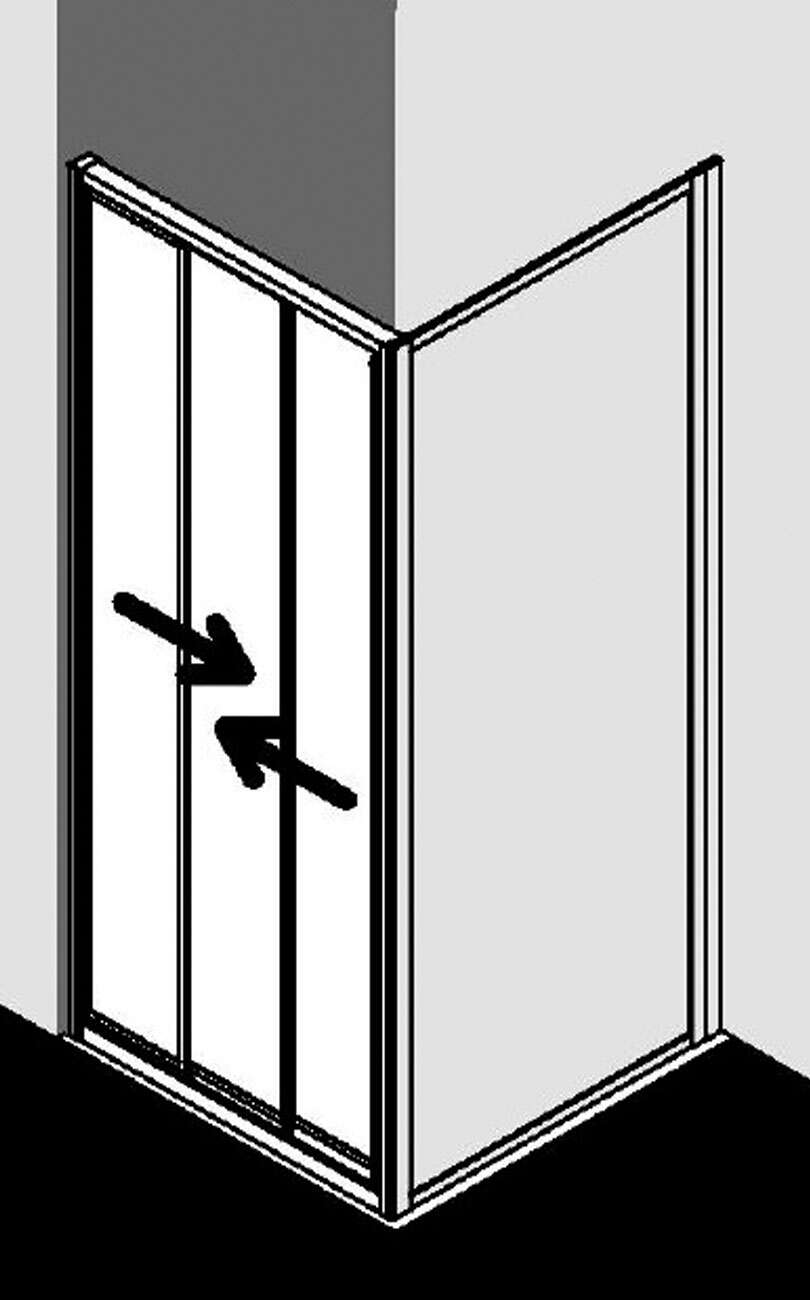 kermi nova 2000 gleitt r 3 tlg f r seitenwand. Black Bedroom Furniture Sets. Home Design Ideas