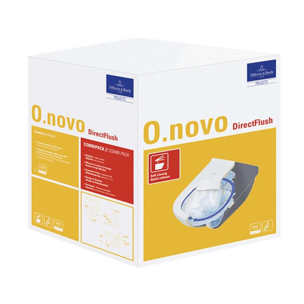 Villeroy & Boch WC-Set O.Novo spülrandlos Kombipack 5660HR ...