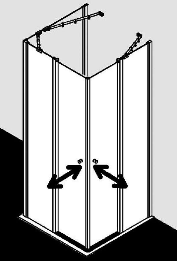 kermi ibiza 2000 u kabine eckeinstieg pendelt r an festteil. Black Bedroom Furniture Sets. Home Design Ideas