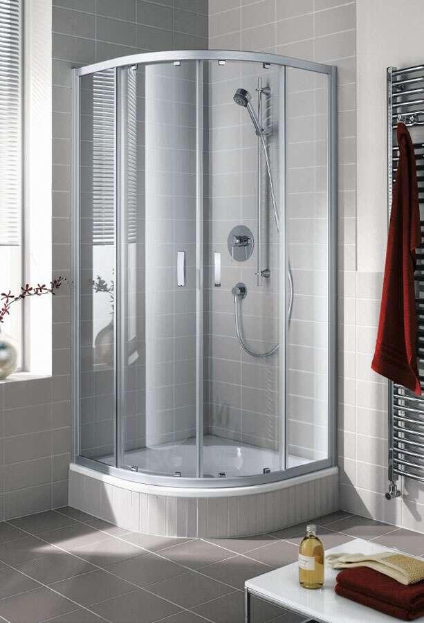 kermi ibiza 2000 runddusche mit gleitt ren. Black Bedroom Furniture Sets. Home Design Ideas