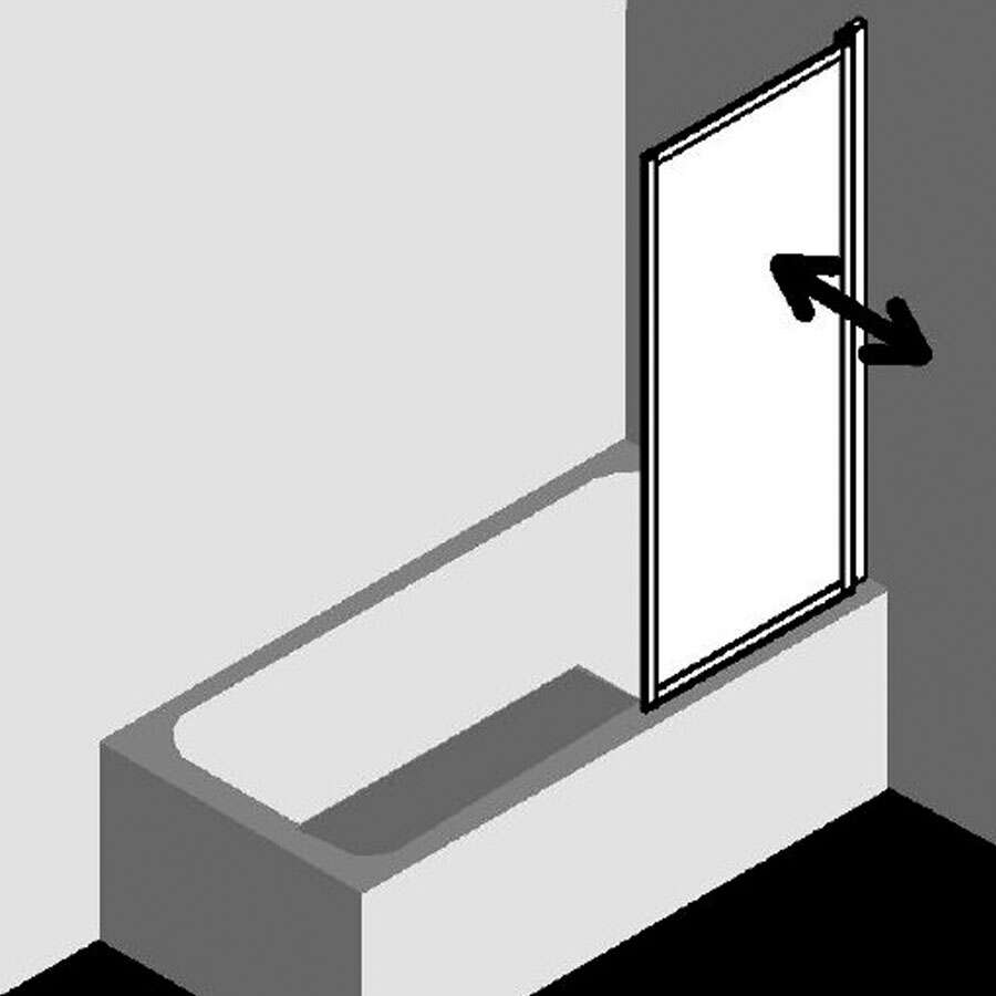 kermi vario 2000 badewannenaufsatz schwenkbar. Black Bedroom Furniture Sets. Home Design Ideas