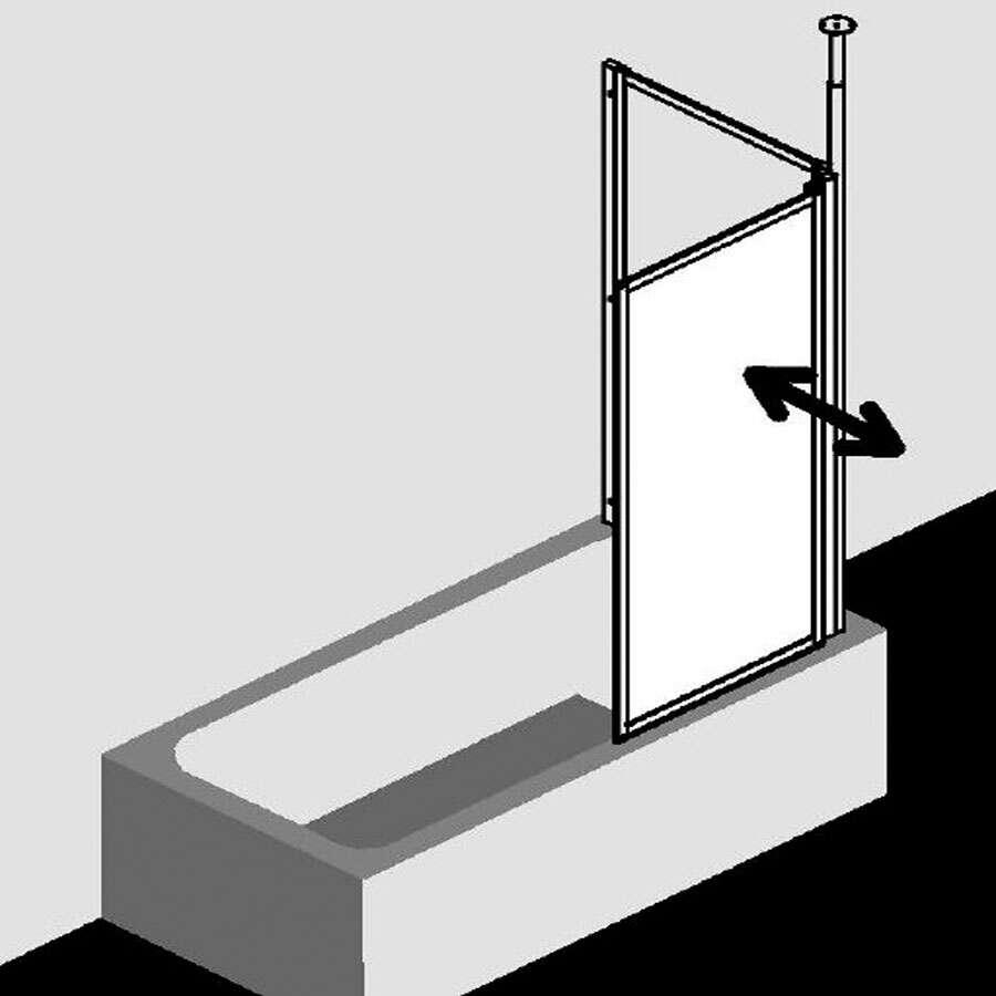 kermi vario 2000 badewannenaufsatz mit seitenwand. Black Bedroom Furniture Sets. Home Design Ideas