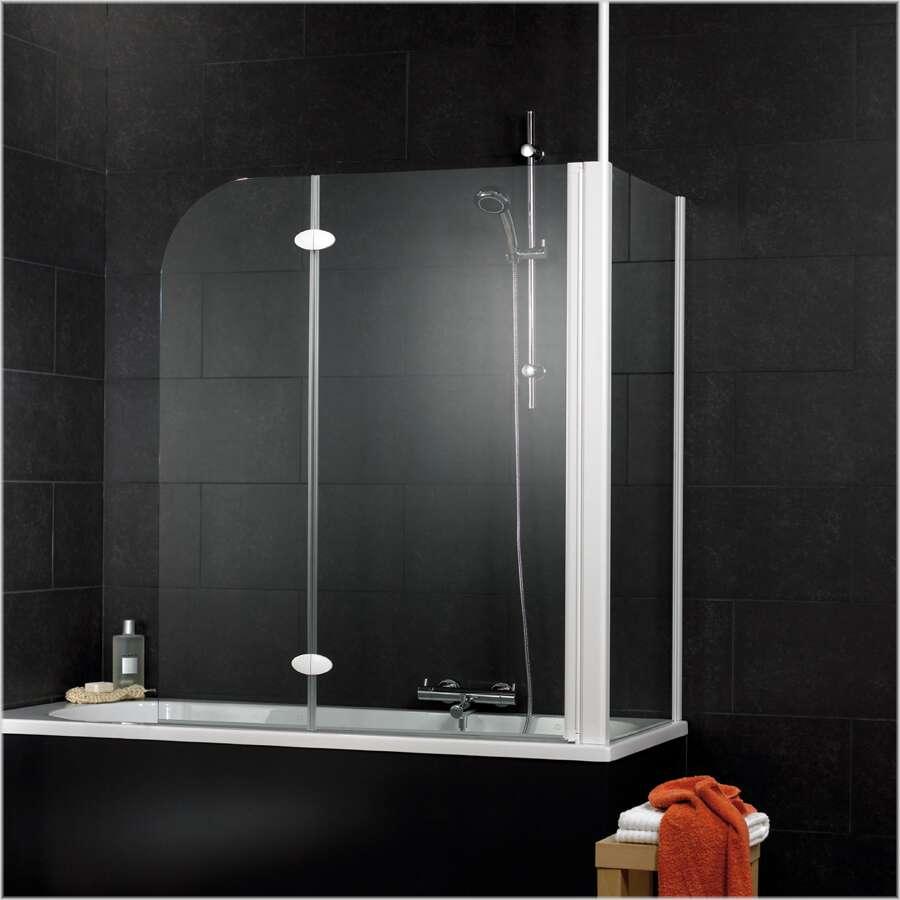schulte sunny badewannenaufsatz mit seitenwand 2 teilig. Black Bedroom Furniture Sets. Home Design Ideas